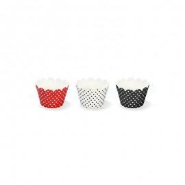 6 Envoltorios Cupcake con Lunares 7,5 x 5 cm