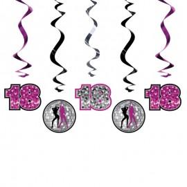 5 Colgantes 18 Cumpleaños Holograficos