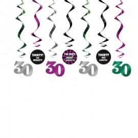 7 Colgantes 30 Cumpleaños