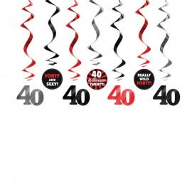 7 Colgantes 40 Cumpleaños