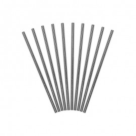 10 Pajitas Brillantes de Papel 19,5 cm