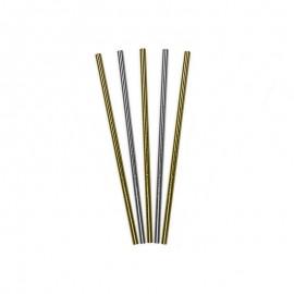 10 Pajitas de Papel Brillante 19,5 cm