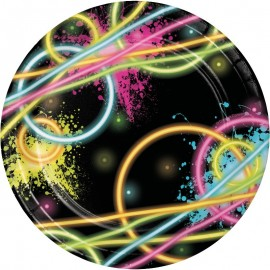 8 Platos Glow Party 18 cm
