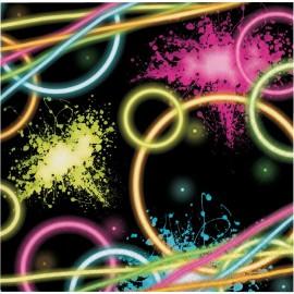 16 Servilletas Glow Party 33 cm