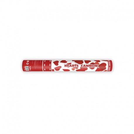 Cañon Confeti con Corazones 40 cm
