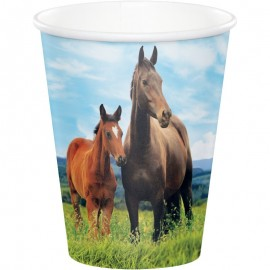 8 Vasos Caballo y Pony