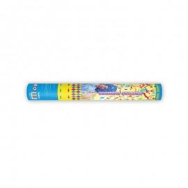 Cañon Confeti de Serpentinas Colores Mate 40 cm