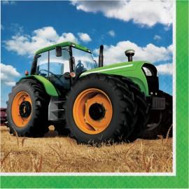 16 Servilletas Tractor 33 cm