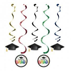 5 Decoraciones Colgantes Graduación Colorines
