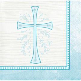 16 Servilletas Cruz Azul 25 Cm