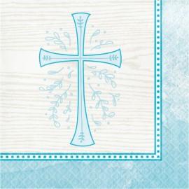 16 Servilletas Cruz Azul 33 Cm
