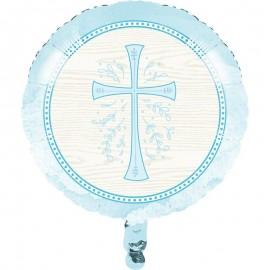 Globo Foil Cruz Azul 45 Cm