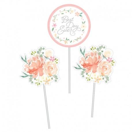 3 Sticks Para Centro de Mesa Floral