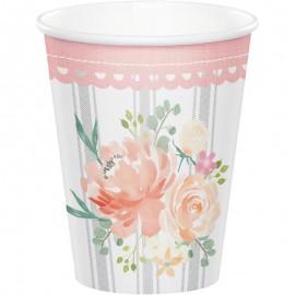 8 Vasos Floral