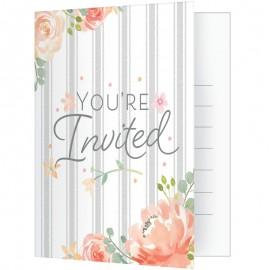 8 Invitaciones Floral