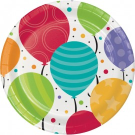 8 Platos Balloon Party 18 cm
