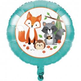 Globo Foil 45 cm Animalitos del Bosque