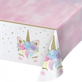 Mantel Unicornio Baby de Plástico 132 x 259 cm