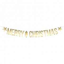 Banner Merry Christmas Dorado 10.5x150 cm