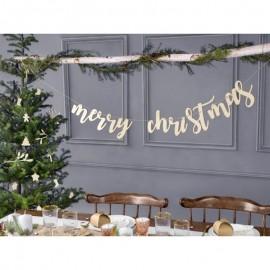 Guirnalda Merry Christmas 87x17 cm