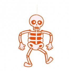 Esqueleto Móvil Fieltro Naranja 70 Cm