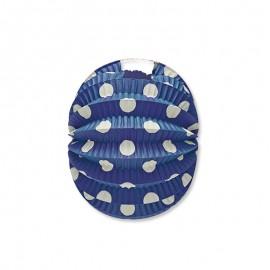 Farol Redondo con Lunares Blancos 22 cm