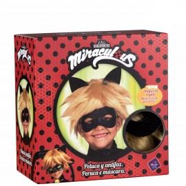Peluca Cat Noir con Antifaz Infantil