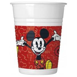 8 Vasos Mickey Super Cool 200 ml