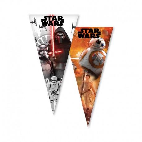 6 Bolsas Star Wars para Chuches forma Cono