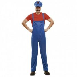 Disfraz de Red Super Plumber Adulto