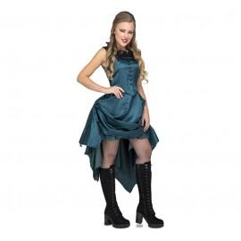 Disfraz de Chica Saloon Azul Adulto