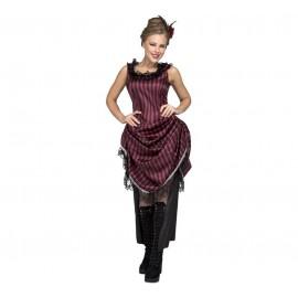 Disfraz de Chica Saloon Rosa Adulto