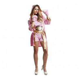 Disfraz de Boxeadora Rosa Adulto