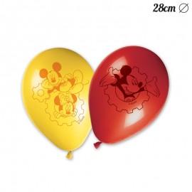 8 Globos Mickey Mouse 28 cm