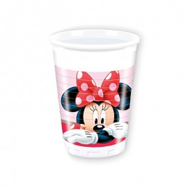 8 Vasos Minnie Mouse Jardín 200 ml