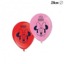 8 Globos Minnie Mouse 28 cm