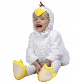 Disfraz de Pollito Blanco Peluche Infantil