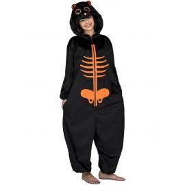 Disfraz de Big Eyes Esqueleto Naranja Adulto