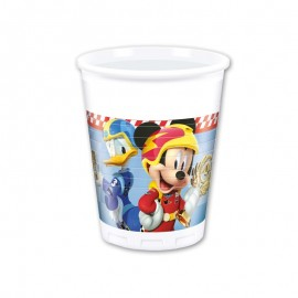 8 Vasos Mickey Piloto 200 ml