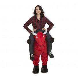 Disfraz de Ride-On Toro Rojo Adulto