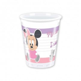 8 Vasos Baby Minnie 200 ml