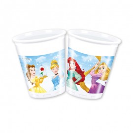 8 Vasos Princesas Disney 200 ml