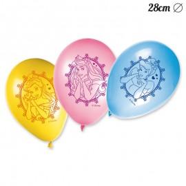 8 Globos de Princesas Disney 28 cm