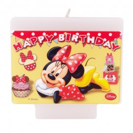 Vela Feliz Cumpleaños Disney Minnie Mouse