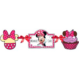 Banner de Silueta Disney Minnie Mouse