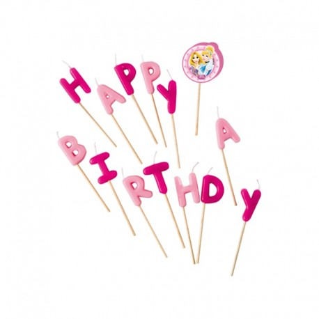 Velas Happy Birthday Princesas Disney