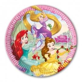 8 Platos Princesas Dream Disney 23 cm