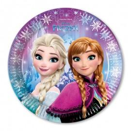 8 Platos Frozen 23 cm
