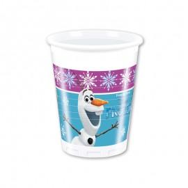 8 Vasos Frozen Cumpleaños