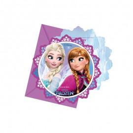 6 Invitaciones Frozen